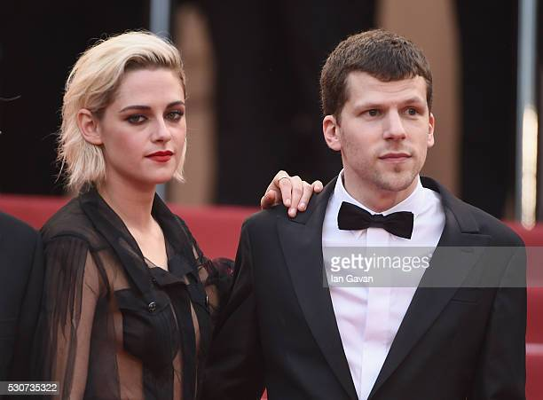 Actress Kristen Stewart and actor Jesse Eisenberg attend the 'Cafe Society' premiere and the Opening Night Gala during the 69th annual Cannes Film...