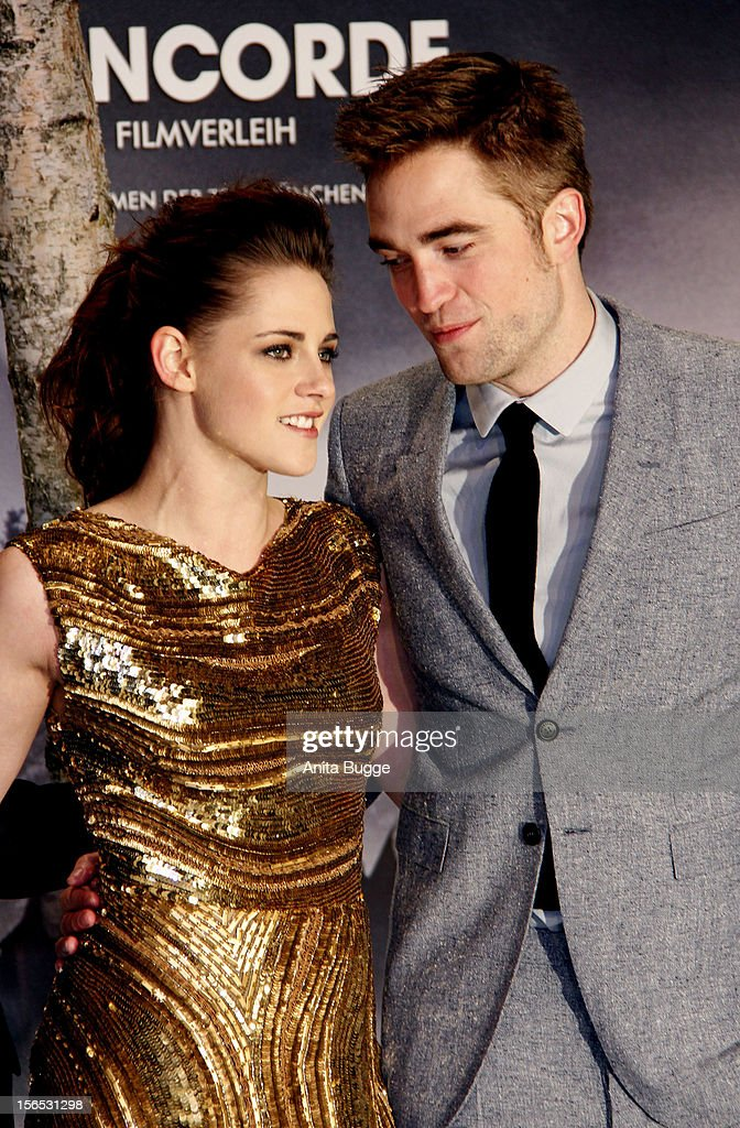 Actress Kristen Stewart and actor Robert Pattinson attend the 'The Twilight Saga: Breaking Dawn Part 2' Germany premiere at Cinestar on November 16, 2012 in Berlin, Germany.