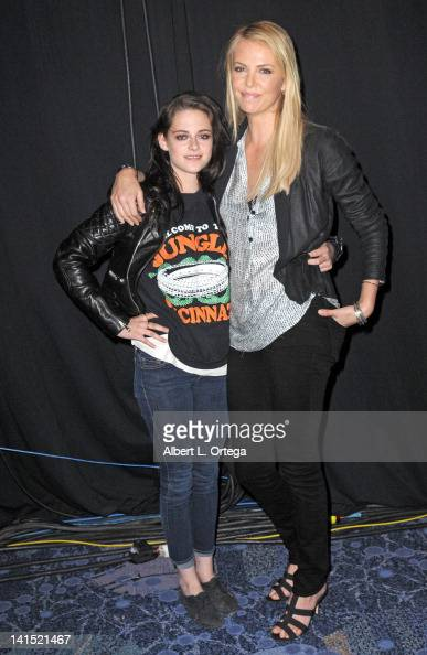 Actress Kristen Stewart and actress Charlize Theron promote Universal's 'Snow White The Huntsman' at 2012 WonderCon Day 2 held at Anaheim Convention...
