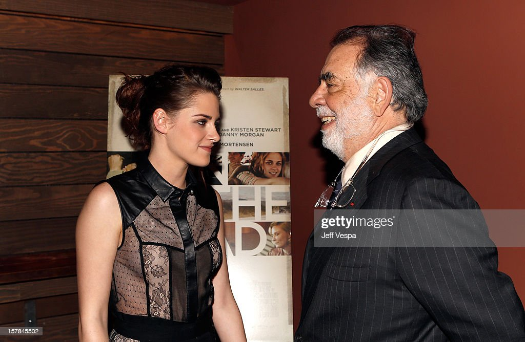 Actress Kristen Stewart and Director Francis Ford Coppola attend the private Los Angeles screening of 'On The Road' at Sundance Cinema on December 6, 2012 in Los Angeles, California.