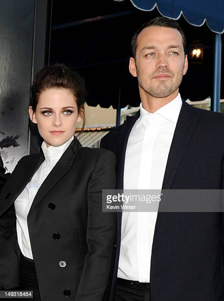 Actress Kristen Stewart and director Rupert Sanders arrive at a screening of Universal Pictures' 'Snow White and The Huntsman' at the Village Theatre...
