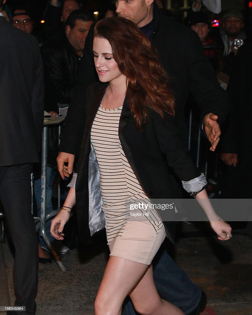 "Kristen Stewart Visits ""The Daily Show"" - December 13, 2012"