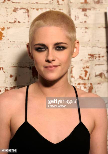 Actress Kristen Stewart arrives at the Flux and Cinefamily Hosted Premiere of IFC Films PERSONAL SHOPPER at The Carondelet House on March 7 2017 in...