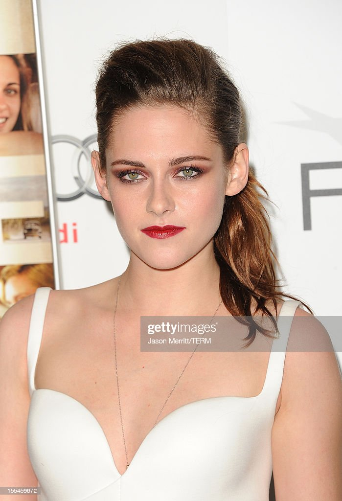 Actress Kristen Stewart arrives at the 'On The Road' premiere during the 2012 AFI Fest presented by Audi at Grauman's Chinese Theatre on November 3, 2012 in Hollywood, California.