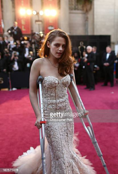 Actress Kristen Stewart arrives at the Oscars held at Hollywood Highland Center on February 24 2013 in Hollywood California