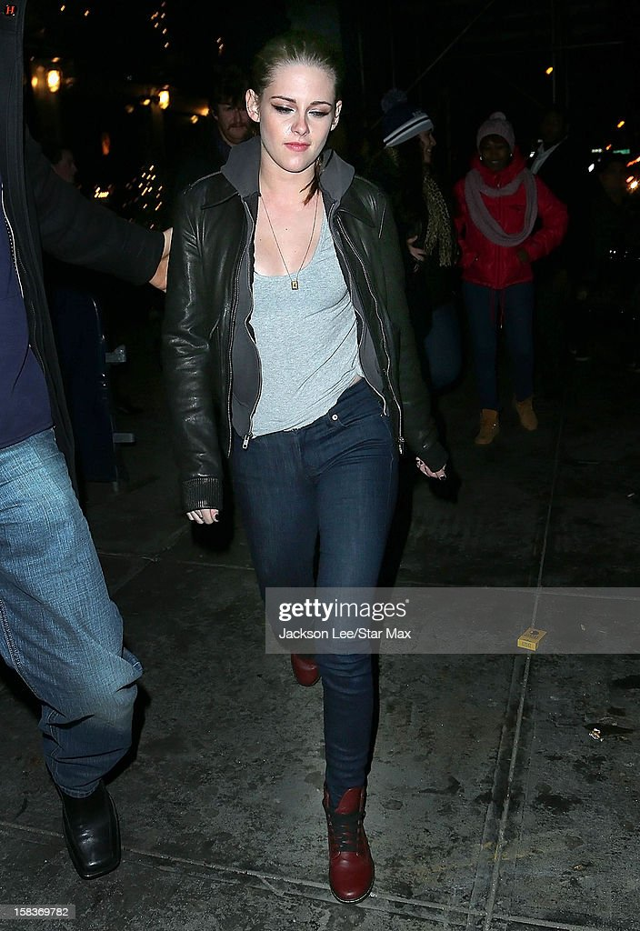 Actress <a gi-track='captionPersonalityLinkClicked' href=/galleries/search?phrase=Kristen+Stewart&family=editorial&specificpeople=2166264 ng-click='$event.stopPropagation()'>Kristen Stewart</a> as seen on December 13, 2012 in New York City.