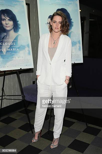 Actress Kristen Stewart attends a screening of 'Clouds Of Sils Maria' hosted by IFC at the IFC Center on January 3 2016 in New York City