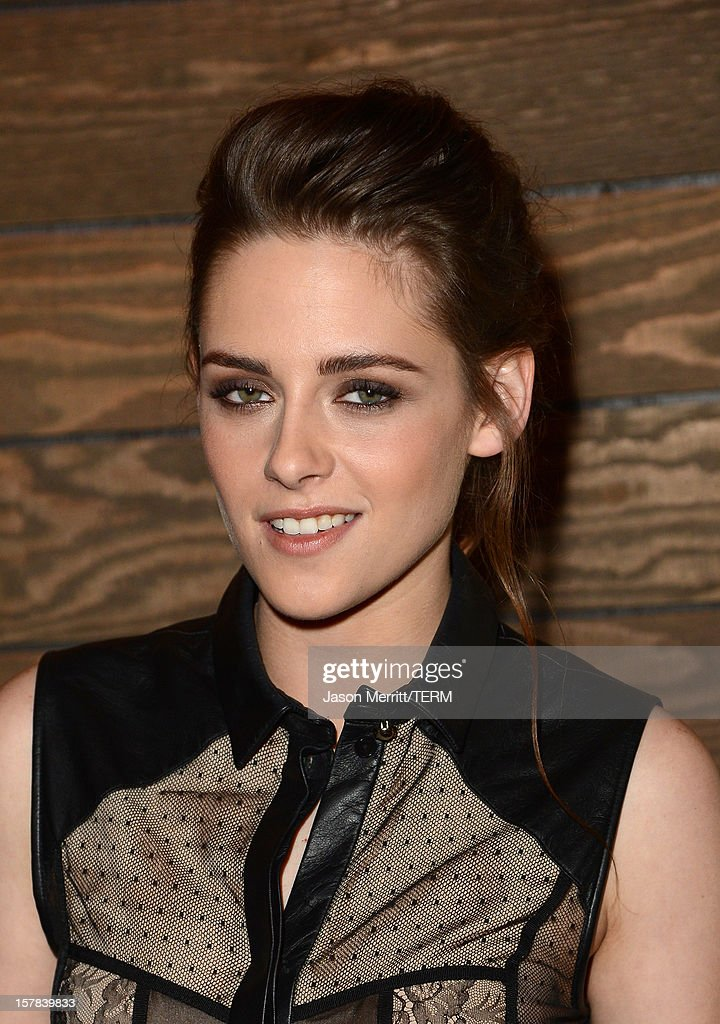 Actress <a gi-track='captionPersonalityLinkClicked' href=/galleries/search?phrase=Kristen+Stewart&family=editorial&specificpeople=2166264 ng-click='$event.stopPropagation()'>Kristen Stewart</a> attends a special screening of 'On The Road' at Sundance Cinema on December 6, 2012 in Los Angeles, California.