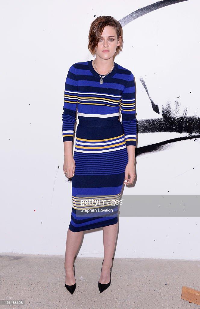 Actress Kristen Stewart attends AOL's BUILD Speaker Series Julianne Moore And Kristen Stewart at AOL Studios In New York on January 13 2015 in New...
