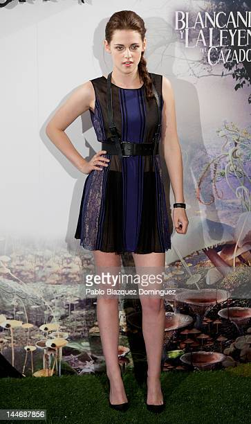 Actress Kristen Stewart attends 'Snow White and the Huntsman' photocall at Casa de America on May 17 2012 in Madrid Spain