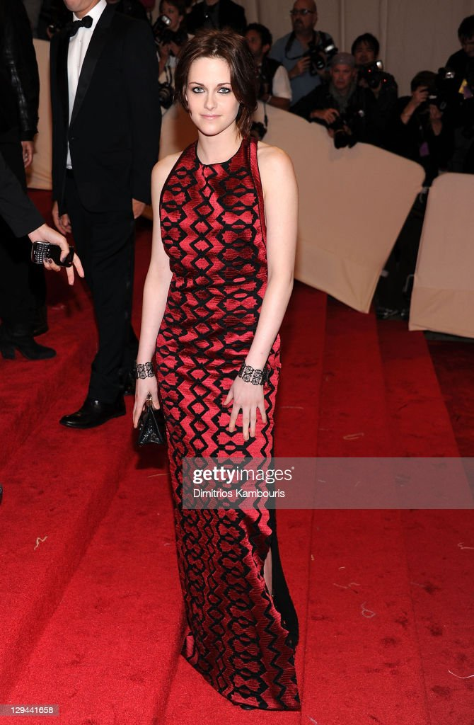 Actress Kristen Stewart attends the 'Alexander McQueen: Savage Beauty' Costume Institute Gala at The Metropolitan Museum of Art on May 2, 2011 in New York City.
