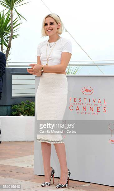Actress Kristen Stewart attends the 'Cafe Society' Photocall during The 69th Annual Cannes Film Festival on May 11 2016 in Cannes France