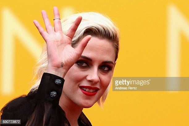 Actress Kristen Stewart attends the 'Cafe Society' premiere and the Opening Night Gala during the 69th annual Cannes Film Festival at the Palais des...