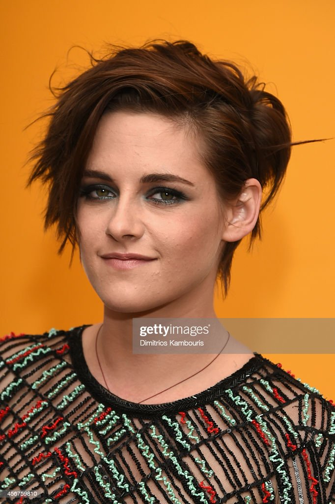 Actress <a gi-track='captionPersonalityLinkClicked' href=/galleries/search?phrase=Kristen+Stewart&family=editorial&specificpeople=2166264 ng-click='$event.stopPropagation()'>Kristen Stewart</a> attends the 'Camp X-Ray' New York premiere at the Crosby Street Hotel on October 6, 2014 in New York City.