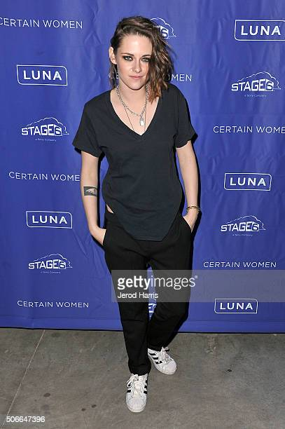 Actress Kristen Stewart attends the Certain Women event hosted by Luna at Sundance Film Festival on January 24 2016 in Park City Utah
