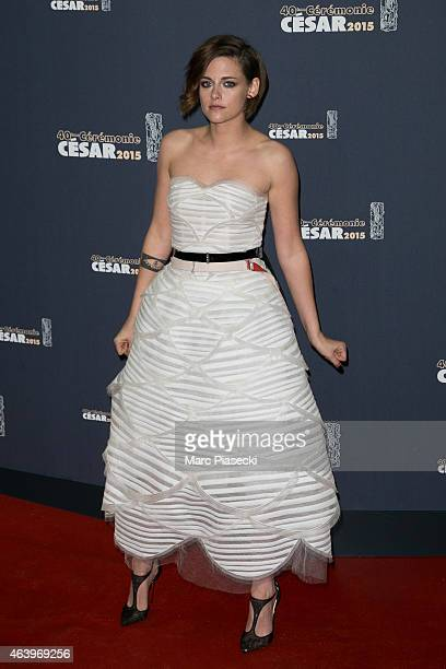 Actress Kristen Stewart attends the 'CESARS' Film awards at Theatre du Chatelet on February 20 2015 in Paris France