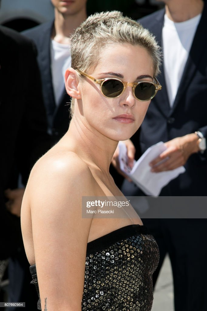 Actress Kristen Stewart attends the Chanel Haute Couture Fall/Winter 2017-2018 show as part of Paris Fashion Week on July 4, 2017 in Paris, France.