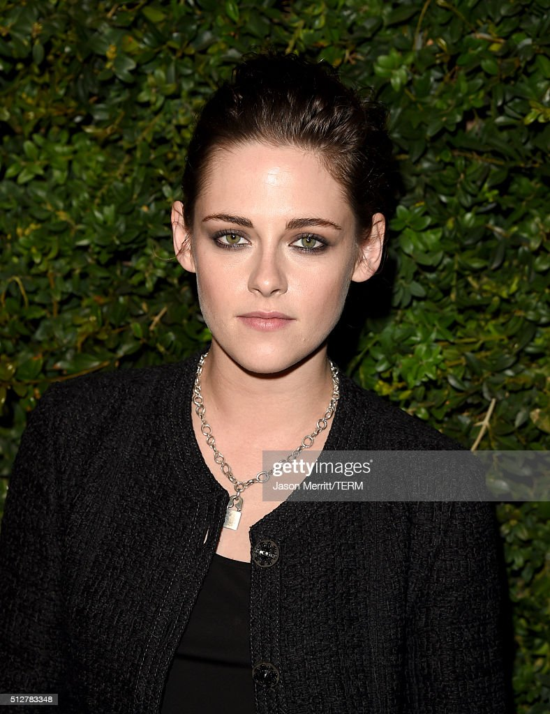 Actress <a gi-track='captionPersonalityLinkClicked' href=/galleries/search?phrase=Kristen+Stewart&family=editorial&specificpeople=2166264 ng-click='$event.stopPropagation()'>Kristen Stewart</a> attends the Charles Finch and Chanel Pre-Oscar Awards Dinner at Madeo Restaurant on February 27, 2016 in Los Angeles, California.
