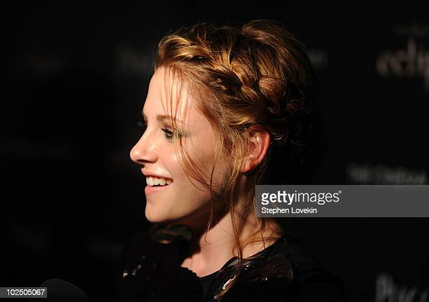 Actress Kristen Stewart attends The Cinema Society Screening Of 'The Twilight Saga Eclipse' at Crosby Street Hotel on June 28 2010 in New York New...