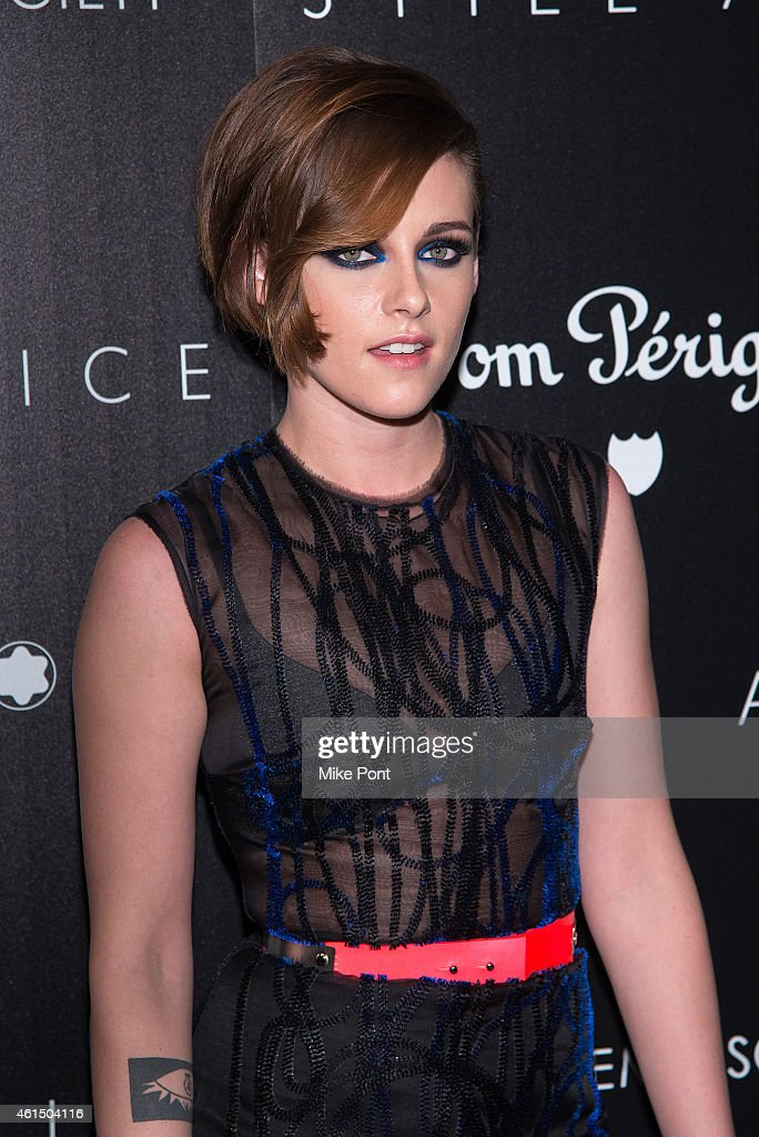 Actress <a gi-track='captionPersonalityLinkClicked' href=/galleries/search?phrase=Kristen+Stewart&family=editorial&specificpeople=2166264 ng-click='$event.stopPropagation()'>Kristen Stewart</a> attends The Cinema Society with Montblanc and Dom Perignon host a screening of Sony Pictures Classics' 'Still Alice' at Landmark's Sunshine Cinema on January 13, 2015 in New York City.