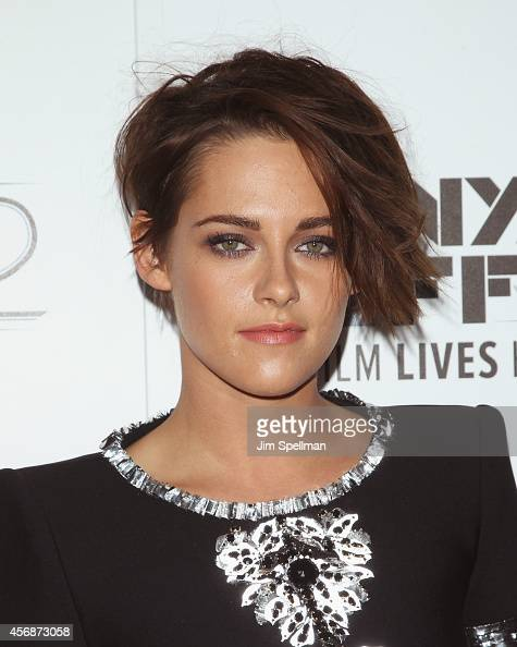 Actress Kristen Stewart attends the 'Clouds Of Sils Maria' 'Merchants Of Doubt' 'Silvered Water' screenings during the 52nd New York Film Festival at...