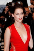 Actress Kristen Stewart attends the 'Cosmopolis' premiere during the 65th Annual Cannes Film Festival at Palais des Festivals on May 25 2012 in...