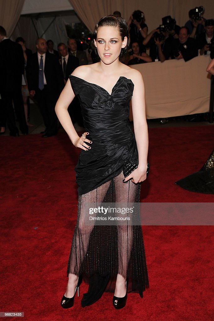 Actress Kristen Stewart attends the Costume Institute Gala Benefit to celebrate the opening of the 'American Woman: Fashioning a National Identity' exhibition at The Metropolitan Museum of Art on May 3, 2010 in New York City.