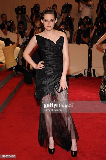 Actress Kristen Stewart attends the Costume Institute Gala Benefit to celebrate the opening of the 'American Woman Fashioning a National Identity'...