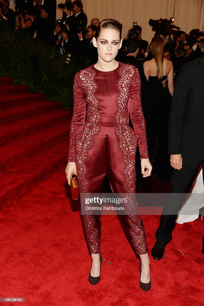 Actress Kristen Stewart attends the Costume Institute Gala for the 'PUNK: Chaos to Couture' exhibition at the Metropolitan Museum of Art on May 6, 2013 in New York City.