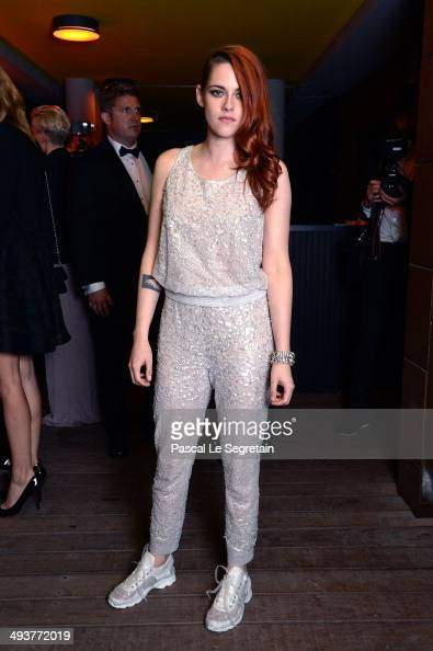 Actress Kristen Stewart attends the dinner party of 'Clouds of Sils Maria' at the Silencio restaurant during the 67th Annual Cannes Film Festival on...