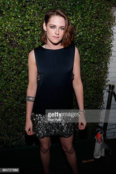 Actress Kristen Stewart attends the inaugural Image Maker Awards hosted by Marie Claire at Chateau Marmont on January 12 2016 in Los Angeles...
