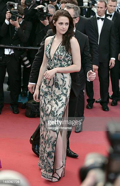 Actress Kristen Stewart attends the 'On The Road' Premiere during the 65th Annual Cannes Film Festival at Palais des Festivals on May 23 2012 in...