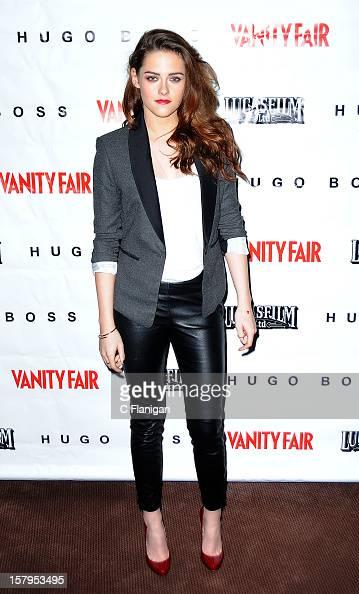 Actress Kristen Stewart attends the 'On the Road' Vanity Fair Screening presented by Hugo Boss at Skywalker Ranch on December 7 2012 in San Francisco...
