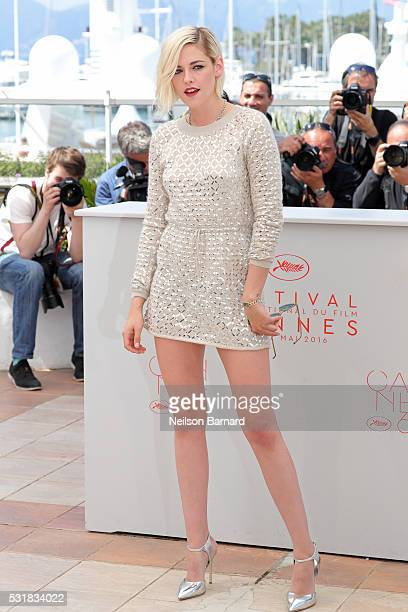 Actress Kristen Stewart attends the 'Personal Shopper' photocall during the 69th annual Cannes Film Festival at the Palais des Festivals on May 17...