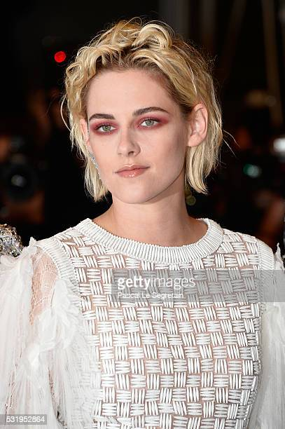Actress Kristen Stewart attends the 'Personal Shopper' premiere during the 69th annual Cannes Film Festival at the Palais des Festivals on May 17...