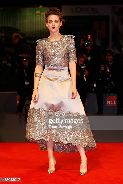 Actress Kristen Stewart attends the premiere of 'Equals' during the 72nd Venice Film Festival at the Sala Grande on September 5 2015 in Venice Italy