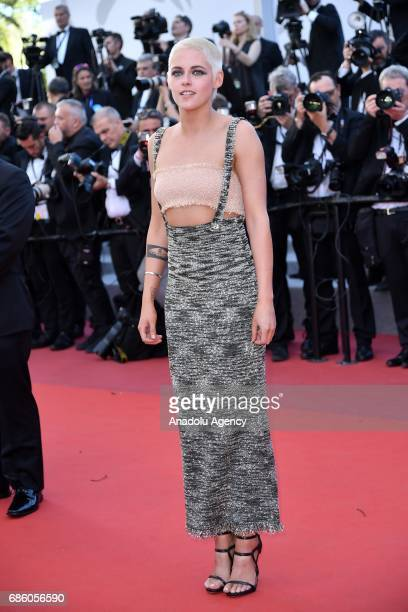 Actress Kristen Stewart attends the screening of '120 Beats Per Minute' in competition at the 70th annual Cannes Film Festival in Cannes France on...