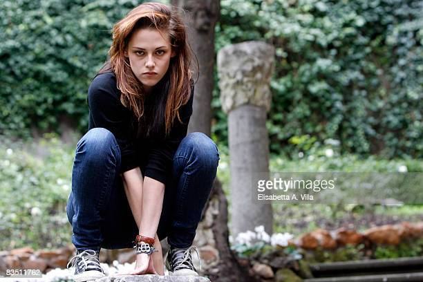 Actress Kristen Stewart attends the 'Twilight' portrait session at StRegis Grand Hotel on October 31 2008 in Rome Italy