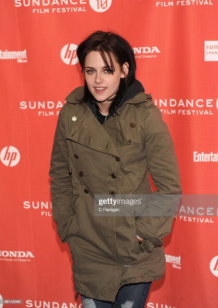 Actress <a gi-track='captionPersonalityLinkClicked' href=/galleries/search?phrase=Kristen+Stewart&family=editorial&specificpeople=2166264 ng-click='$event.stopPropagation()'>Kristen Stewart</a> attends the 'Welcome To The Rileys' Premiere during the 2010 Sundance Film Festival at Racquet Club on January 23, 2010 in Park City, Utah.