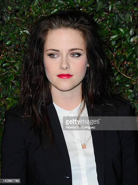 Actress Kristen Stewart attends the world premiere of 'My Valentine' video hosted by Paul McCartney and Stella McCartney on April 13 2012 in West...