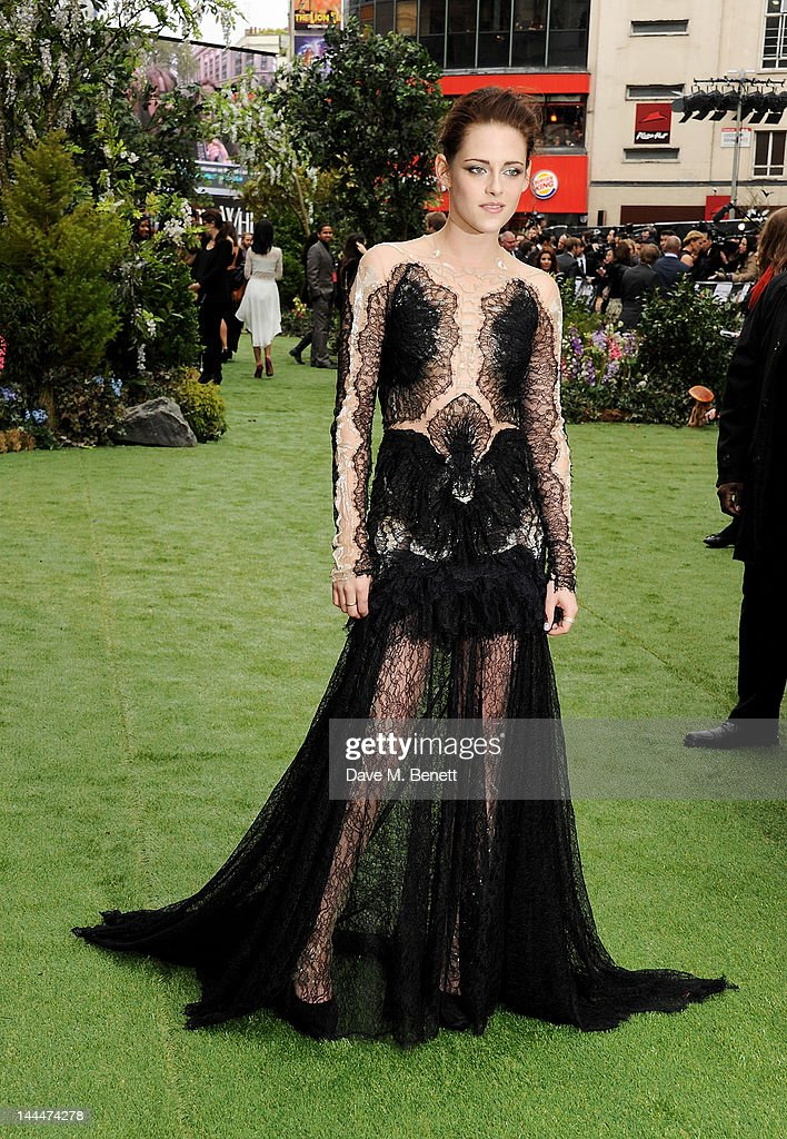 Actress Kristen Stewart attends the World Premiere of 'Snow White And The Huntsman' at Empire Leicester Square on May 14 2012 in London England