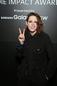 Actress Kristen Stewart attends Variety Indie Impact Dinner Presented by Samsung Galaxy View at the Samsung Studio during The Sundance Film Festival...