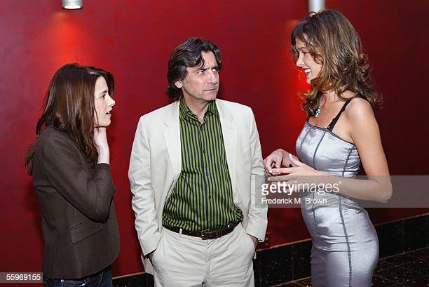 Actress Kristen Stewart director Griffin Dunne and actress Paz de la Huerta attend the cocktail reception prior to viewing the 'Fierce People' film...
