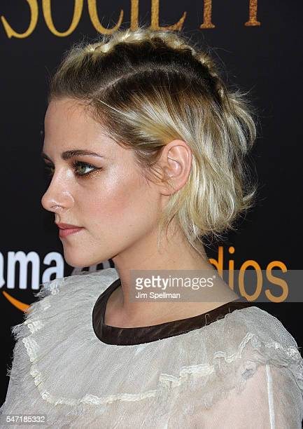 Actress Kristen Stewart hair detail attends the New York premiere of 'Cafe Society' hosted by Amazon Lionsgate with The Cinema Society at Paris...