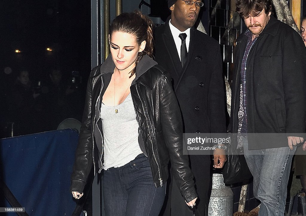 Actress <a gi-track='captionPersonalityLinkClicked' href=/galleries/search?phrase=Kristen+Stewart&family=editorial&specificpeople=2166264 ng-click='$event.stopPropagation()'>Kristen Stewart</a> is seen leaving Abe & Arthur's on December 13, 2012 in New York City.