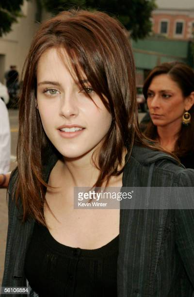 Actress Kristen Stewart poses at the premiere of Columbia Picture's 'Zathura A Space Adventure' at the Village Theater on November 6 2005 in Los...