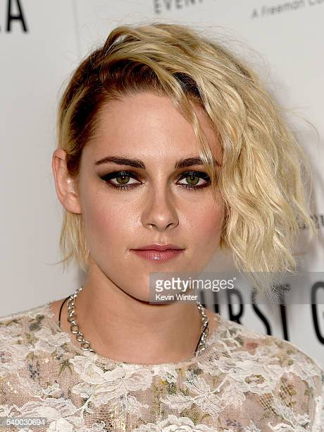 Actress Kristen Stewart poses backstage at the 7th Annual Thirst Gala at the Beverly Hilton Hotel on June 13 2016 in Beverly Hills California