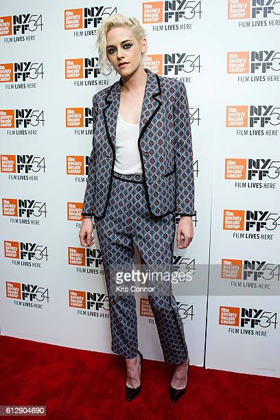Actress Kristen Stewart poses for photo during 'An Evening With Kristen Stewart' during the 54th New York Film Festival at the Stanley H Kaplan...