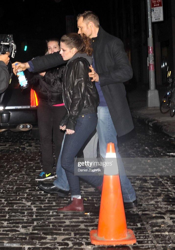 Actress Kristen Stewart seen leaving Abe & Arthur's on December 13, 2012 in New York City.