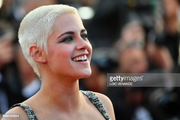 US actress Kristen Stewart smiles as she arrives on May 20 2017 for the screening of the film '120 Beats Per Minute ' at the 70th edition of the...